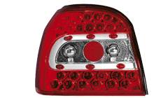 Feux arrieres adaptables VW Golf III rouge/cristal - dectane
